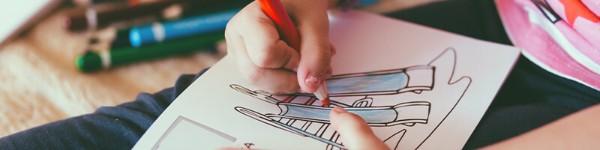 Комплект за рисуване когато кръщаваш дете